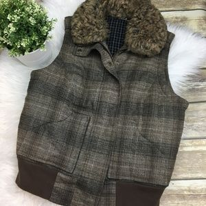 ABS by Allen Schwartz Fuax Fur Vest Med